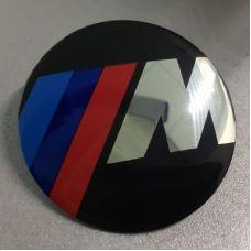Аксессуары Наклейка на диск BMW М-серия d56 мм аллюминий (Логотип на черном фоне) выпуклый