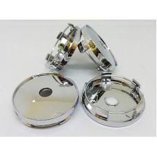 Аксессуары Колпачок в диск универсальный хром (металл+пластмас) 60/56мм
