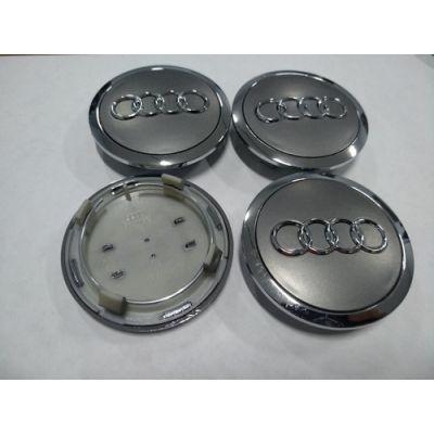 Аксессуары Колпачок в диск AUDI 60/56мм серый+хром 4B0 601 170