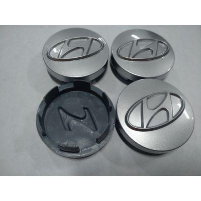 Аксессуары Колпачок в диск HYUNDAI 57/52мм 3D серый старий значок