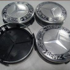 Аксессуары Колпачок в диск MERCEDES 75/70мм черный+черное основание