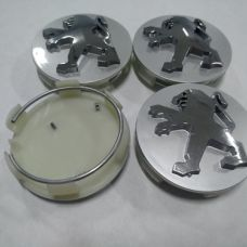 Аксессуары Колпачок в диск PEUGEOT 60/57мм серый+хром