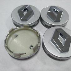 Аксессуары Колпачок в диск RENAULT 57/52мм серый+хром