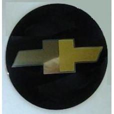 Аксессуары Наклейка на диск Chevrolet d56 выпуклый (Золотисый логотип на черном фоне)