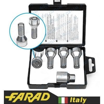 купити секретки для дисків Секретные Болты 14х1,25 L28мм конус Вращающееся кольцо Farad Starlock (black/2-keys)