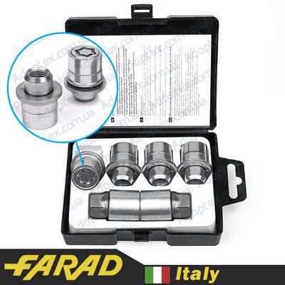 купити секретки для дисків Секретные гайки 12х1,5 L35мм Прессшайба Вращающееся кольцо Farad Starlock (2 keys)