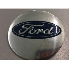 Аксессуары Наклейка на диск Ford D56 алюминий (Синий логотип на серебристом фоне)