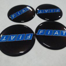 Аксессуары Наклейка на диск FIATчерный, синие буквы 50мм