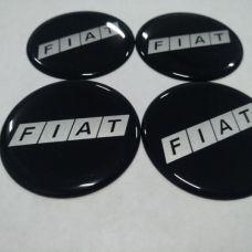 Аксессуары Наклейка на диск FIATчерный, серебрянныe буквы 60мм