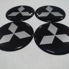 Аксессуары Наклейка на диск MITSUBISHI черный 45мм