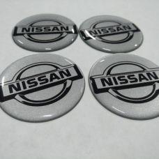 Аксессуары Наклейка на диск NISSAN серебряный 55мм