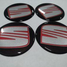 Аксессуары Наклейка на диск SEAT черный+красный 65мм