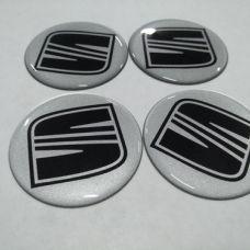 Аксессуары Наклейка на диск SEAT серебро+черный 55мм
