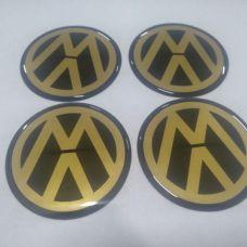 Аксессуары Наклейка на диск VW золотой 65мм