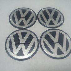 Аксессуары Наклейка на диск VW черный 60мм