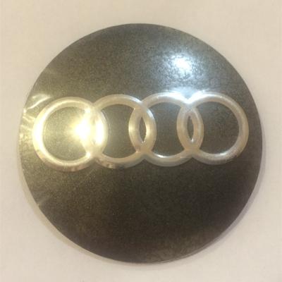Аксессуары Наклейка на диск Audi 56 выпуклый серый