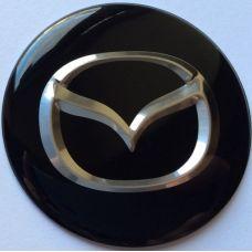 Аксессуары Наклейка на диск Mazda D56 выпуклый черный