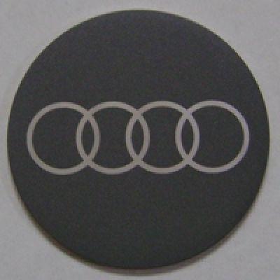 Аксессуары Наклейка на диск Audi 50 выпуклый темно-серый