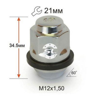 купити гайки для дисків Гайки 12х1,5 L35mm Hyundai 21 ключ