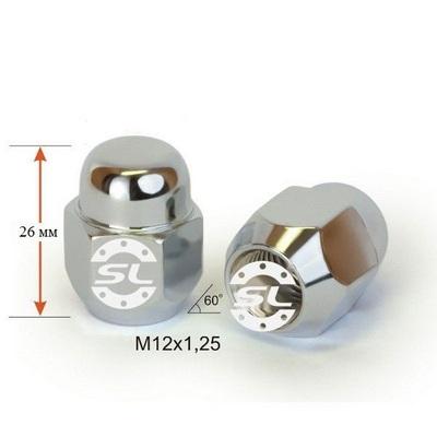купити гайки для дисків Гайки 12х1,25 L26mm закрытая 19 ключ Хром