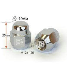 Аксессуары Гайки 12х1,25 L22mm закрытая 19 ключ Хром