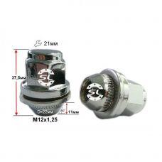 Аксессуары Гайки 12х1,25 L37,5 Прессшайба D-22 Ключ 21 Хром (Nissan, Infiniti)