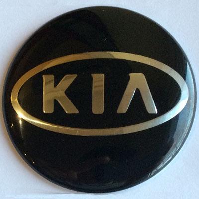 Аксессуары Наклейка на диск Kia 58 выпуклый черный на сером