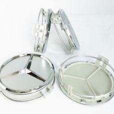 Аксессуары Колпачки на диски Mercedes (75/70) Серебро A1714000025 (с кольцом)