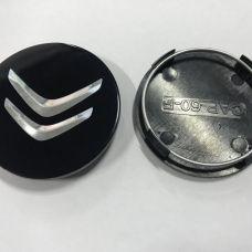 Аксессуары Колпачок в диск CITROEN 60/56мм черный плоский (Cap-60-F)