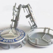 Аксессуары Колпачок в диск MERCEDES 75/70мм синий A1714000025 (с кольцом)