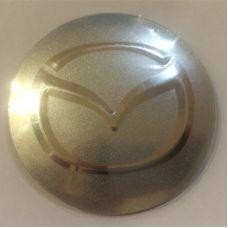 Аксессуары Наклейка на диск Mazda 56 выпуклый серый