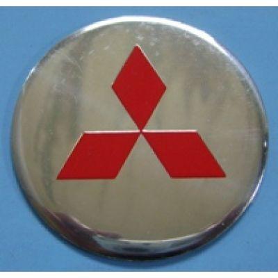 Аксессуары Наклейка на диск Mitsubishi 56 плоский красный