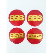 Аксессуары Наклейка на диск BBS D56 алюминий (Золотой логотип на красном фоне)