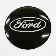 Аксессуары Наклейка на диск Ford D56 мм (Серебристый логотип на черном фоне)