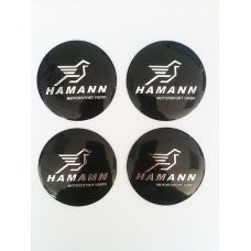Аксессуары Наклейка на диск Hamann D56 мм (Хромированный логотип на черном фоне)