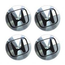 Аксессуары Наклейка на диск Honda D56 аллюминий (черный логотип на серебристом фоне)