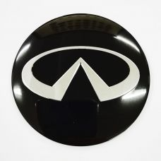 Аксессуары Наклейка на диск Infiniti D56 мм (Серебристый логотип на черном фоне)