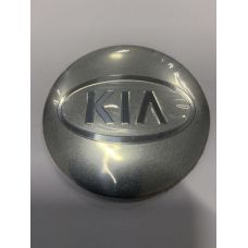 Аксессуары Наклейка на диск Kia 56 выпуклый (Xромированный логотип на серебристом фоне)