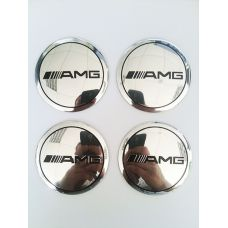 Аксессуары Наклейки AMG D56 мм (Черный логотип на хромированном фоне)