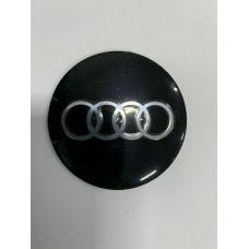 Аксессуары Наклейки Audi D56 алюминий (Серебристый логотип на черном фоне)