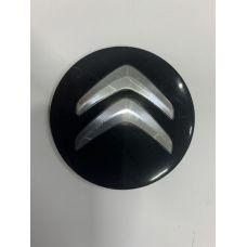 Аксессуары Наклейки Citroen D56 алюминий (Хромированный логотип на черном фоне)