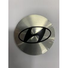 Аксессуары Наклейки Hyundai D56 алюминий (Черный логотип на серебристом фоне)