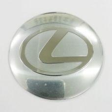 Аксессуары Наклейки Lexus D56 алюминий (Хромированный логотип на серебристом фоне)