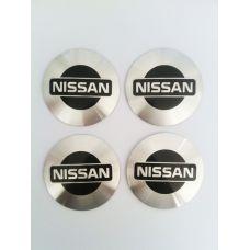 Аксессуары Наклейки Nissan D56 алюминий (Черный логотип на серебристом фоне)