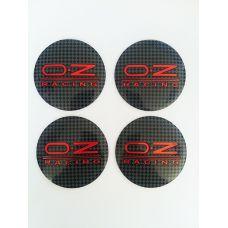 Аксессуары Наклейки OZ D56 мм (Красный логотип на карбоновом фоне)