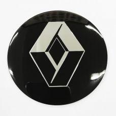 Аксессуары Наклейки Renault D56 алюминий (Серебристо/черный логотип на черном фоне)