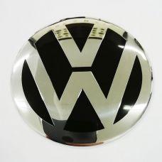Аксессуары Наклейки VW 65 алюминий (Хромированный логотип на черном фоне )