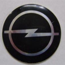 Аксессуары Наклейка на диск Opel 56  выпуклый (Серебоистый логотип на черном фоне)