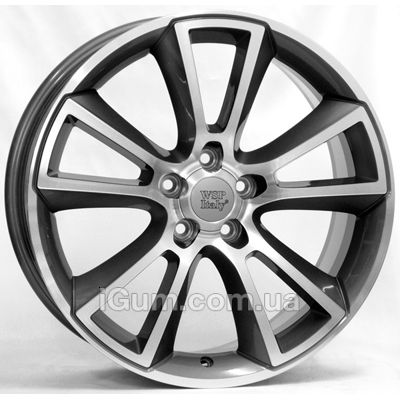 Диски WSP Italy Opel (W2504) Moon 8x18 5x110 ET43 DIA65,1 (anthracite polished)