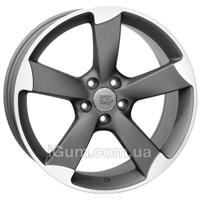 Диски WSP Italy Audi (W567) Giasone 8x17 5x112 ET39 DIA66,6 (matt gun metal polished)